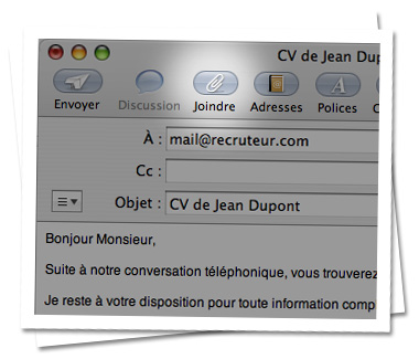envoyer un cv par mail exemple Envoyer son CV avec Apple Mail   MonCV.com envoyer un cv par mail exemple